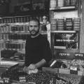 Olive seller, Mahane Yehuda Market, Jerusalem