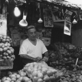Potato seller, Haifa market